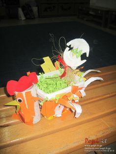 Photo by article : Καλαθάκια κοτούλες και κοτοπουλάκια   Πασχαλινές κατασκευές  by www.popi it.gr