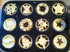 Mince pies - use cutters to make lots of different tops