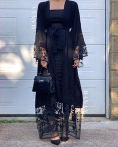 Islamic Fashion, Arab Fashion, Muslim Fashion, Modest Fashion Hijab, Fashion Outfits, Eid Outfits, Modern Abaya, Hijab Evening Dress, Abaya Designs