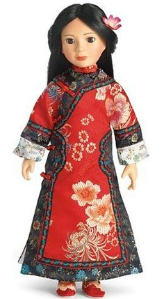 "Manchurian Princess Dress & Shoes ~ Fits 18"" Slim Carpatina Dolls"