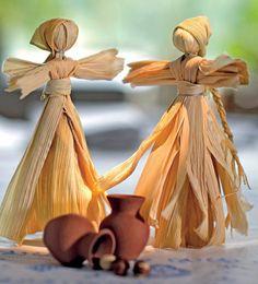 Paso a paso: muñequitas rusas con hojas de maíz: www.diarioartesanal.wordpress.com