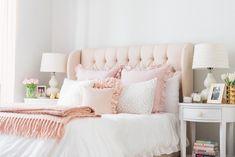 Living room designs and decoration medium size pink cozy bedroom rug purple grey blush bedroom decor Blush Bedroom Decor, Blush Pink Bedroom, Pink Bedroom Design, Pink Bedrooms, Bedroom Curtains, Linen Curtains, Small Bedrooms, Master Bedrooms, Bedroom Designs