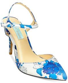 Blue By Betsey Johnson Anina Pointed Toe Evening Pumps $99.00 Bring a cheerful, ultra-chic look into your shoe collection with Blue by Betsey Johnson's gorgeous Anina evening pumps.