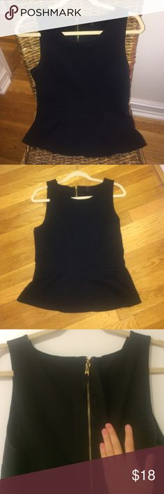 J. Crew black peplum top J. Crew black peplum top with zipper back. Worn only a few times, excellent condition! J. Crew Tops