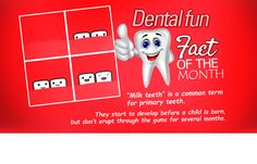 """Another common name for primary teeth is """"baby teeth."""" Whatever you call them, they are more important than you might realize. If your child is overdue for a checkup, call us at 0208 780 2226 and schedule an appointment Oral Health, Dental Health, Dental Fun Facts, Dental Art, Dental Humor, Best Dentist, A Child Is Born, Perfect Smile, Dental Services"""