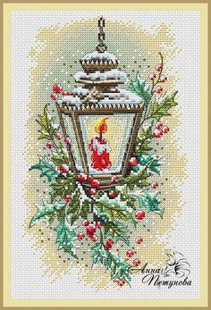 Новогодний фонарь, схема для вышивки, арт. АП-014 Анна Петунова | Купить онлайн на Mybobbin.ru