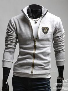 Neck Lamborghini Casual Short Coat