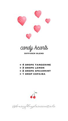 candy hearts diffuser blend | valentine's diffuser blends | young living essential oils | diffuser blends | diffuser recipes | wellness | eo | tangerine | lemon | spearmint | copaiba | romantic diffuser blends #oils #essentialoil #diffuser #diffuserblend #youngliving #diffuserrecipe #valentine