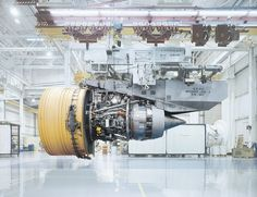 Love it! A serie of pictures with a GE jet-engine... by photographer Christian Stoll