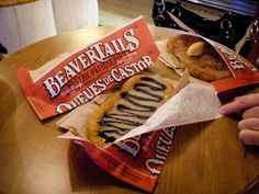 Beaver Tails !!! Beaver Tails, Snack Recipes, Snacks, Chips, Yummy Food, Favorite Recipes, Meals, Ethnic Recipes, Sweet