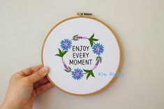 YouTube tutorial _ cornflower lavender flower wreath hand embroidery pattern Embroidery Patterns, Hand Embroidery, Lavender Flowers, Coin Purse, Wreaths, Purses, Youtube, Needlepoint Patterns, Handbags