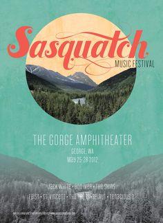 Short-Term Identity - Sasquatch Music Festival on Behance