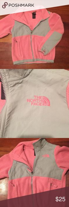 Girls pink fleece north face jacket. Size 7/8. Excellent used condition. 30% off bundles of 3 or more listings from my closet. The North Face Jackets & Coats