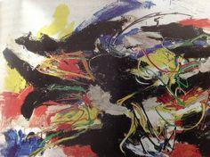 'Landscape' 1961 Oil on Canvas by Karel Appel.