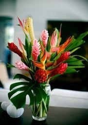tropical wedding flowers,  wedding decor, tropical wedding flower centerpiece, wedding flower arrangement, add pic source on comment and we will update it. www.myfloweraffair.com