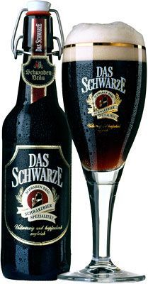 "Das Schwarze ""a bottom-fermented dark beer (Dunkel)"" Dinkelacker-Schwaben Bräu… Paulaner Bier, Whisky, Beer Types, Craft Bier, Dark Beer, Beer Brands, Beer Packaging, German Beer, Beer Label"