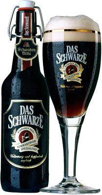 """Das Schwarze """"a bottom-fermented dark beer (Dunkel)"""" Dinkelacker-Schwaben Bräu, Stuttgart, Germany (750ml, 4.9%) March 2014"""