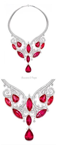 Rosamaria G Frangini | My Red Jewellery | TJS | VAN CLEEF & ARPELS Diamond & Ruby Mystery Set Brooch