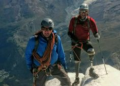 Briton Jamie Andrew says he is first quadruple amputee to climb Matterhorn #amputee #disability #PWD #inspirational #motivational #mountaineering #climbing