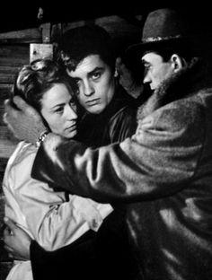 Luchino Visconti, Annie Girardot and Alain Delon