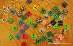 Little House In Colorado: Minecraft Polymer Clay Charms