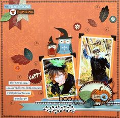 Acorn Hollow Halloween Layout featuring Vicki Boutin