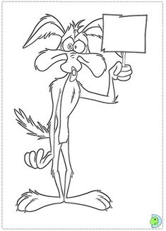 road runner wolf coloring page coloring pages pinterest road