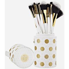 Bh Cosmetics 11 Piece Dot Collection Brush Set ($29) ❤ liked on Polyvore featuring beauty products, makeup, makeup tools, makeup brushes, angled makeup brush, bhcosmetics, slanted makeup brush, set of makeup brushes and set of brushes