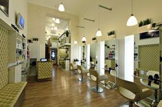 HAIR STUDIOS! Kucsera Hair Salon by Bulcsu Tamás & Herczeg Tamás, Budapest   Hungary store design