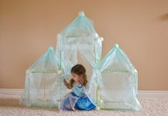 DIY Disney Frozen Ice Palace Fort with Crazy Forts