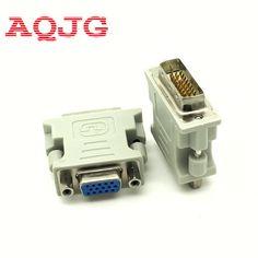 DVI-I 241 Male to HD 15 Pin VGA SVGA Female Video Card Monitor LCD Converter Adapter White Wholesale AQJG  EUR 0.97  Meer informatie  http://ift.tt/2rZrjwn #aliexpress