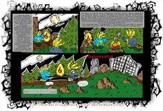 cippi e wippi mangiano i funvermetti davanti al fuoco