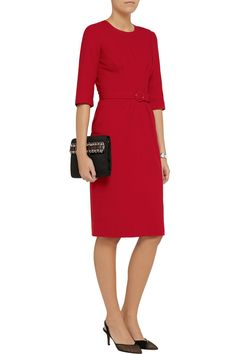 Kate's Goat Scarlett Dress in Red at The Outnet, where it's reduced by 55% (at the time of writing). Kate wore this in Geranium pink.