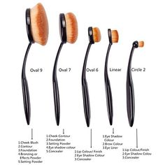 5PCS 5 Style2 Oval Toothbrush Makeup Foundation Powder Lip Cosmetic Brushes Kit Set US >>> Check this awesome product by going to the link at the image.