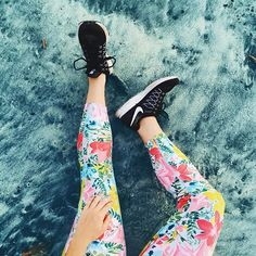 Colorful running tights