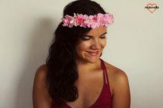 Corona de flores Artziniega jazmín y cerezo.Rosa y por malonsilla