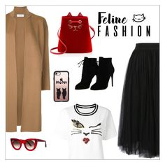 """""""The Cat's Meow: Feline Fashion"""" by bliznec ❤ liked on Polyvore featuring Ermanno Scervino, WithChic, Astraet, Charlotte Olympia, Thierry Lasry, Casetify, Tom Ford, Fall, polyvoreeditorial and polyvorecontest"""