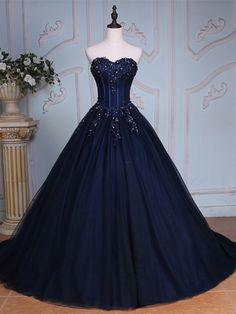 Ericdress Sweetheart Ball Gown Appliques Beading Court Train Quinceanera Dress 12255949 - EricDress.com
