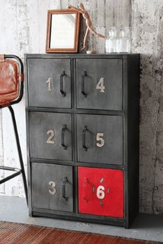 Vintage Industrial Decor Dishfunctional Designs: Decorating With Home Depot Industrial Supply: Unexpected Style - Creative ideas in crafts and upcycled, innovative, repurposed art and home decor. Industrial Door, Vintage Industrial Furniture, Industrial Office, Industrial Interiors, Modern Industrial, Industrial Lighting, Industrial Design, Metal Furniture, Furniture Design
