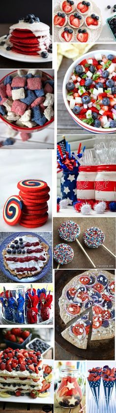 Red, white, and blue recipes and decorating ideas that are perfect for Memorial Day or 4th of July! | Luci's Morsels