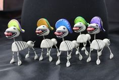 Play Football with Day of the Dead Skeleton Dog SOLD SEPARATELY Mexican Folk Art