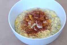 Fotorecept: Kokosovo-mangová kaša s chia semienkami