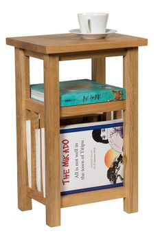 Details About Small Oak Magazine Rack Side Table | Wooden Coffee/Lamp/End/  Storage Stand