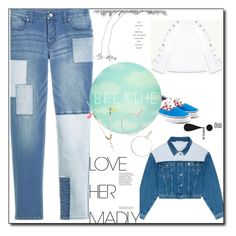 """""""denim on Denim"""" by peeweevaaz ❤ liked on Polyvore featuring Tracie Andrews, outfit, denim, polyvoreeditorial and polyvorefashion"""