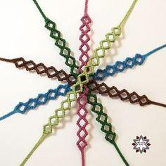 Macramotiv micro-macrame knotted bracelet tutorial DIY knotting square instructions how to knot friendship bracelet migramah makramé csomózás