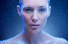bokeh, geleia azul, neve