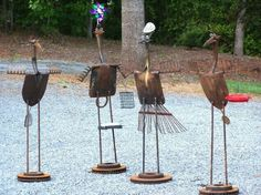 Recycled Metal Yard Art | YARD Birds | Scrap metal art