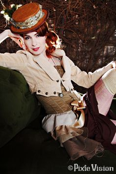 Felicia Day steampunk couture - Isn't she the chick from the Guild that was also on Eureka?