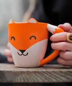 thumbsUp! Fox Mug #zulilyfinds