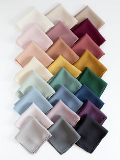 The Fern colored hand dyed hankie is a mid-tone dusty green. The beauty is in the details with its hand-rolled edge sewn with silk thread. square silk hand wash or dry clean steam or iron on silk setting hand dyed in California Fabric Photography, Clothing Photography, Colour Pallete, Color Schemes, Mode Turban, Color Combinations For Clothes, Modele Hijab, Motifs Perler, Mode Abaya